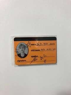 wts chenle we go up crew card