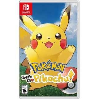 Pokemon Lets Go Pikachu