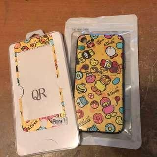 B.Duck Iphone7 玻璃貼+背Case 背殼