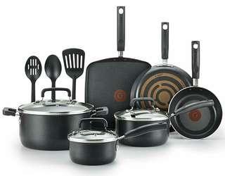 [BNIB] Tefal C530SC Signature Nonstick Expert Cookware Set (12-piece, Black)