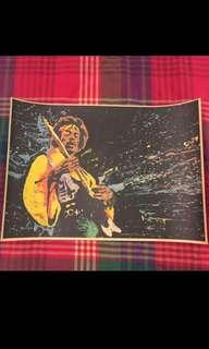 Sale 🌟 BN Jimi Hendrix W Guitar Poster 42x30cm