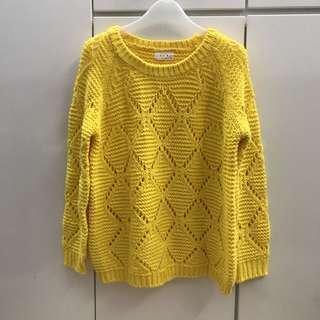 包郵 韓國黃色冷衫Yellow Sweater