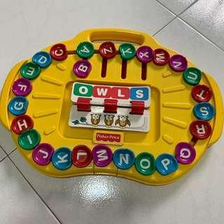 Fisher price alphabets and words toy