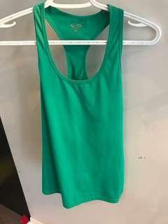 Green workout tank size medium