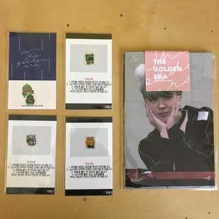 bts emw stickers + jimin postcard set