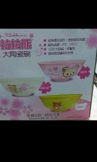 🚚 拉拉熊大陶瓷碗粉紅櫻花款
