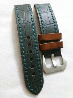 22mm leather strap by Strapcode Miltat