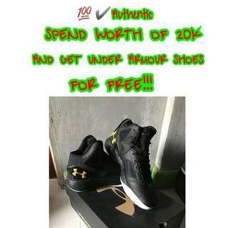 GET FREE UNDER ARMOUR SHOES💯✔Authentic