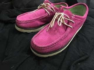 🚚 搬家出清 麂皮 桃紅 靴 鞋 39 24.5-25cm