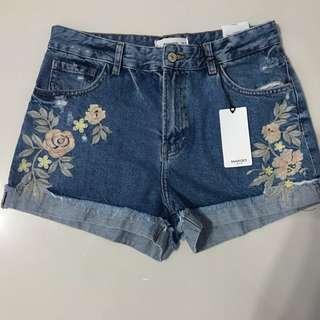 Mango Embroidered Shorts