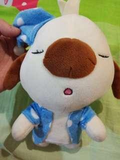 Sleeoy dog soft tiy