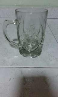 Transparent pattern beer glass cup