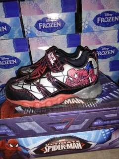 Sepatu Lampu Anak Spiderman Size 26