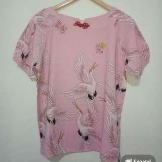 Baju blouse wanita pink
