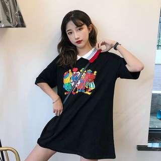 [PO] Korean mid-length t-shirt blouse
