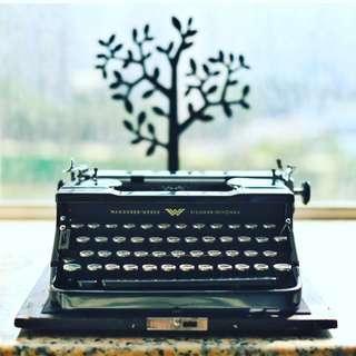 古董Continental 100打字機連盒及說明書Antique Continental 100 Typewriter(不議價)