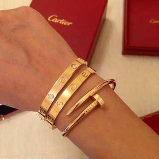 Cartier Bracelets and Rings