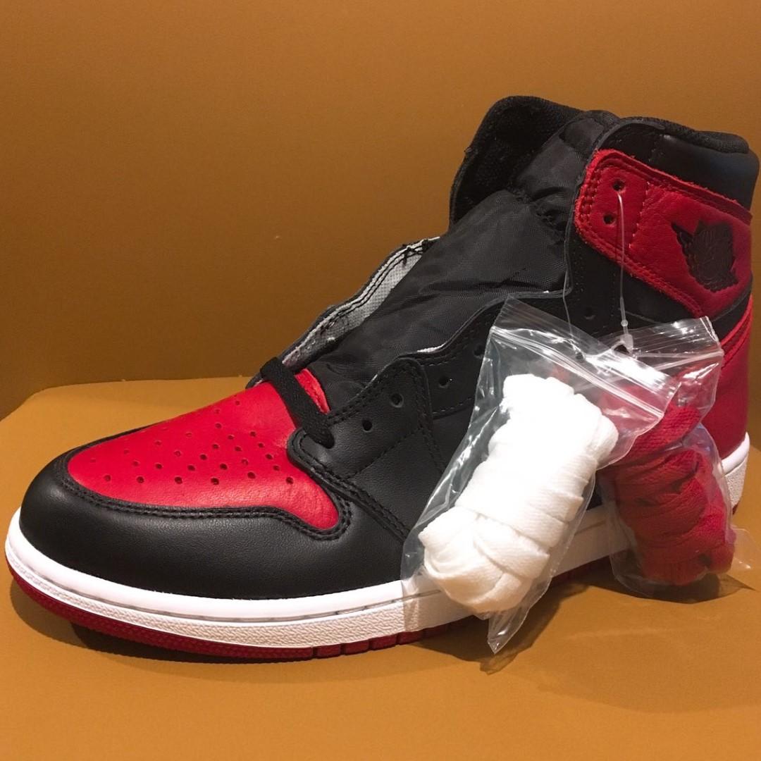 promo code 4ea5d d7c66 全新Nike Air Jordan 1 I Retro High OG 2016 Black Varsity Red-White ...