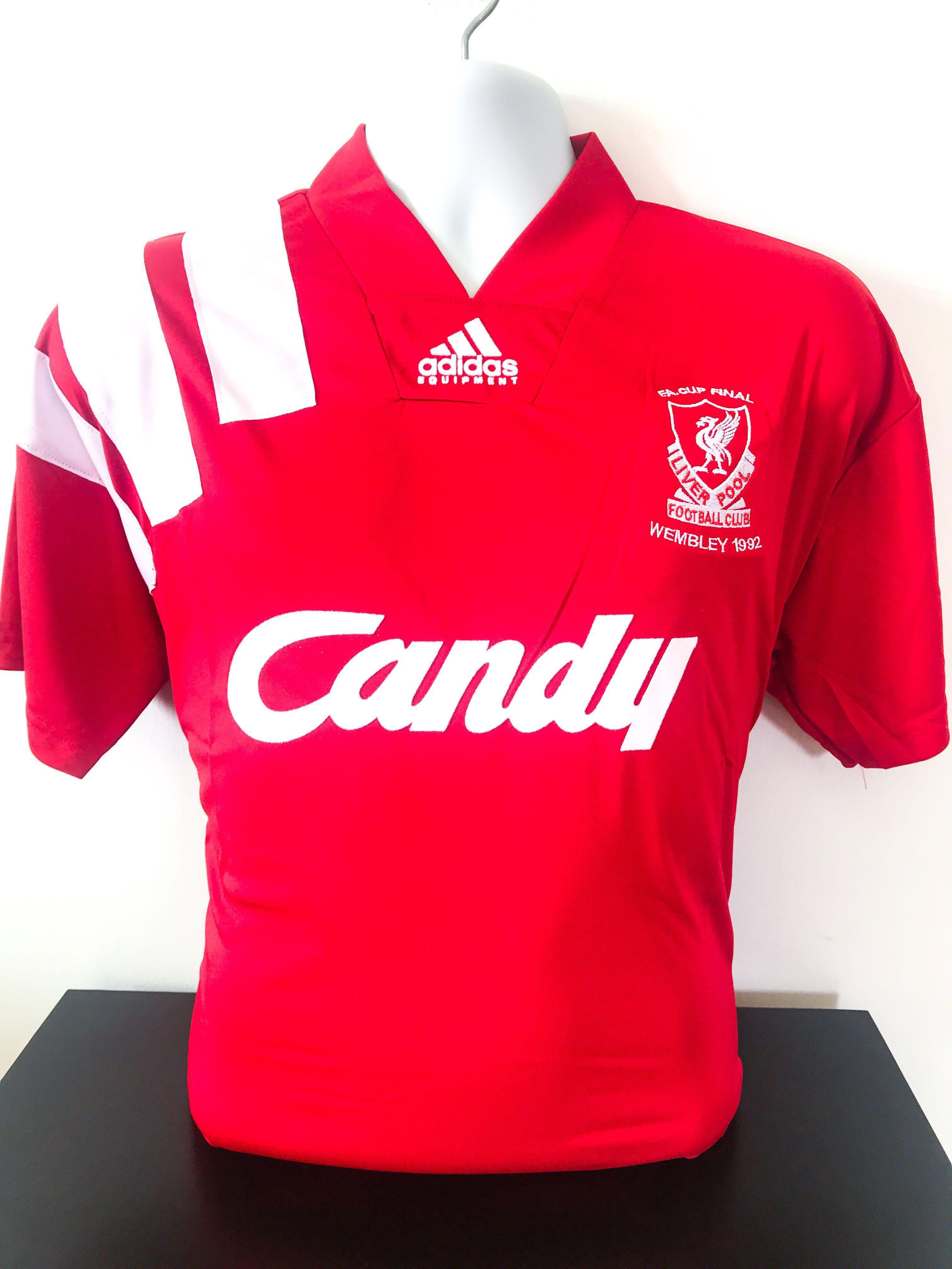 wholesale dealer 29b9e 8b4b9 🆕 Liverpool FC Retro F.A. Cup Final 1992 Home Jersey ...