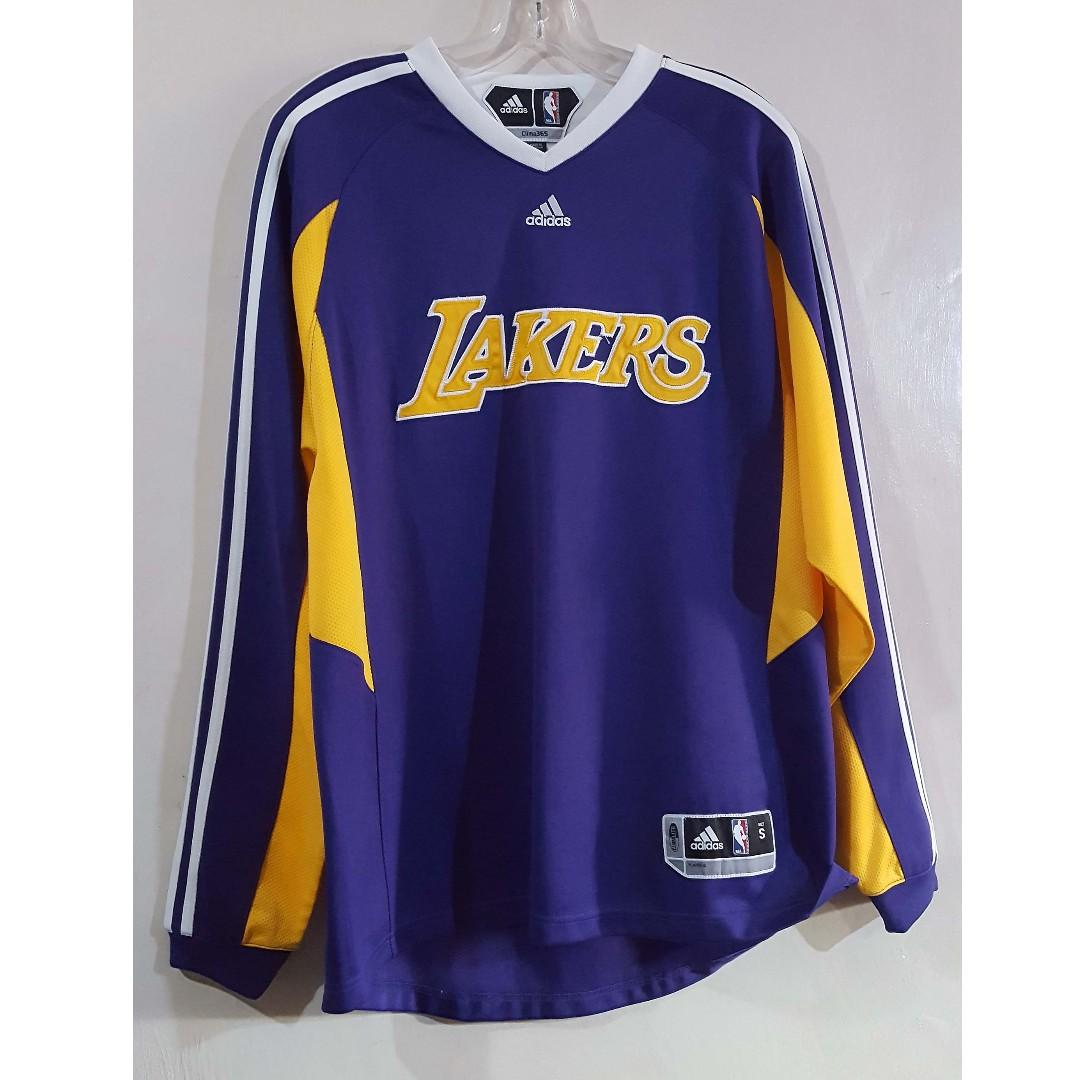 87bce5d7626 Adidas Climax365 NBA Authentics Lakers Warm Up Jacket Small on Carousell