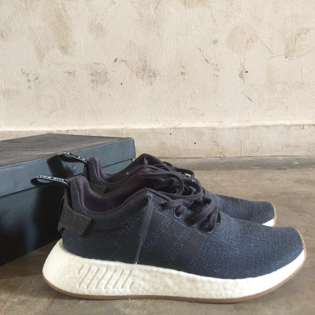 Adidas NMD R2 grey five core black with og box