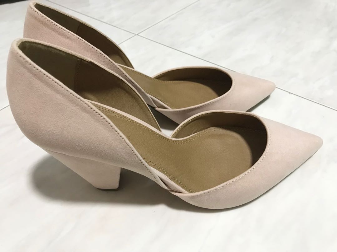 cf8e3a561f5 ASOS Nude pointed heels