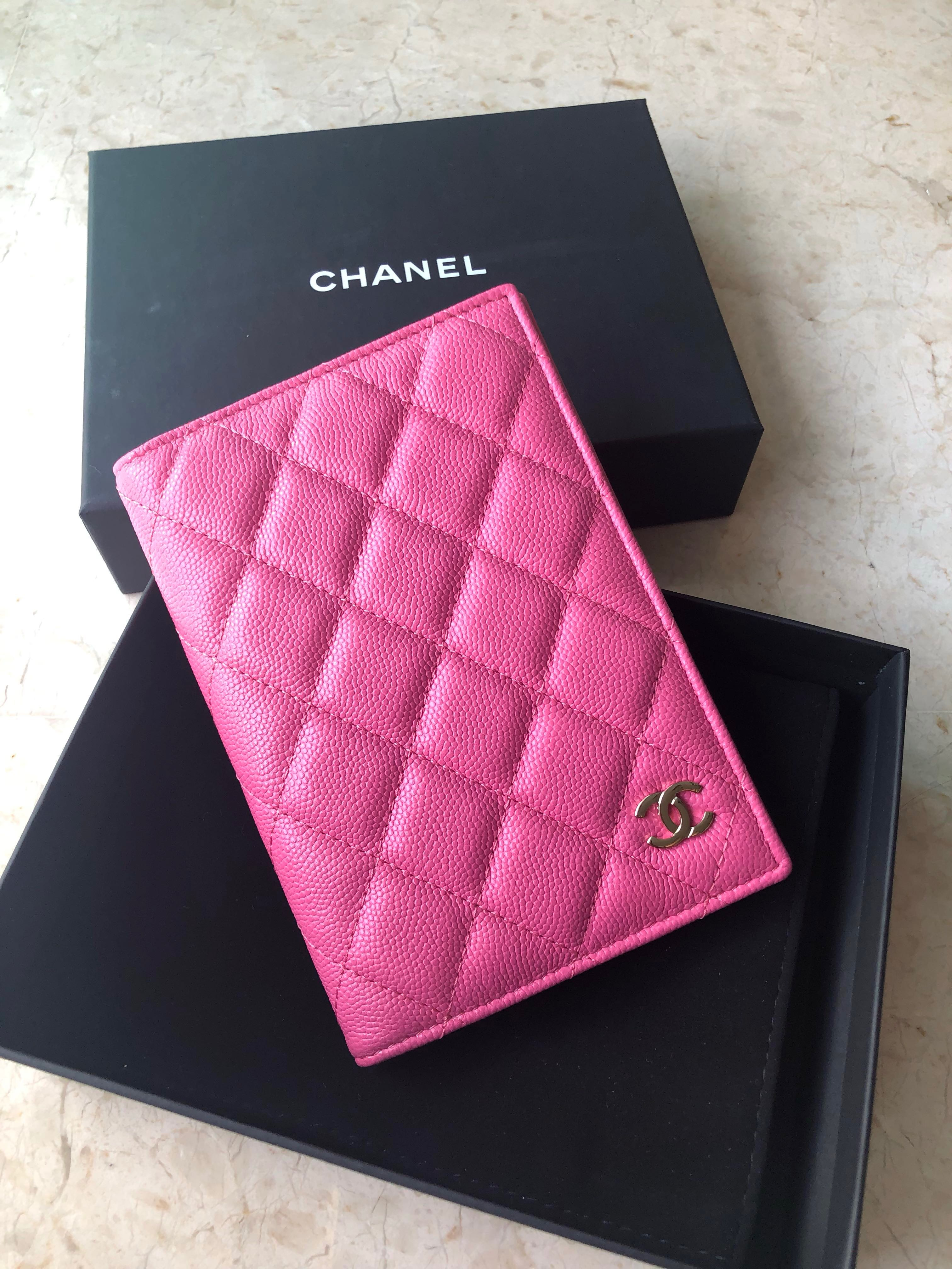 c51c31ce7d8f Authentic Chanel Pink Caviar Passport holder, Luxury, Bags & Wallets,  Handbags on Carousell