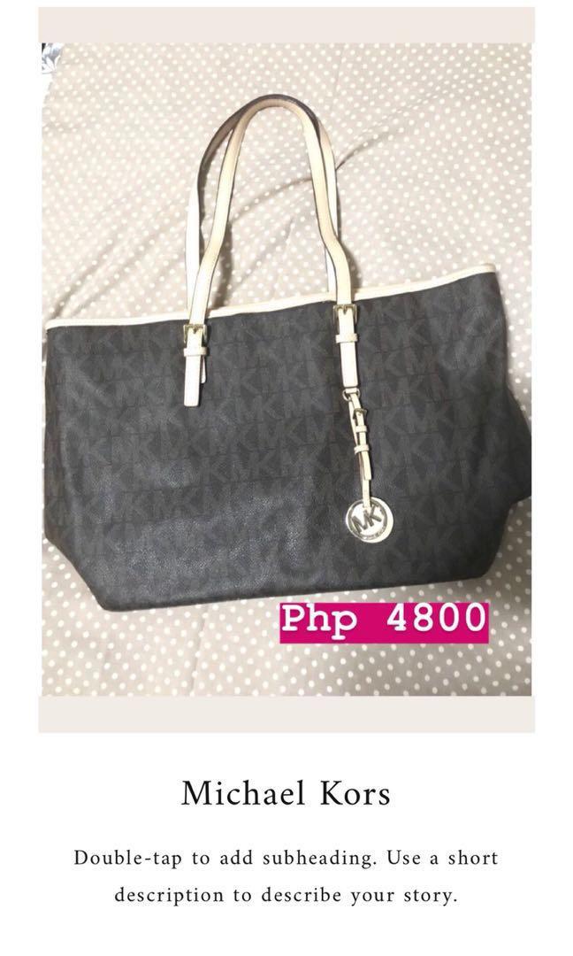Authentic MK Tote Bag - Sale! Sale! Sale!  bdeaaaeb7aa11