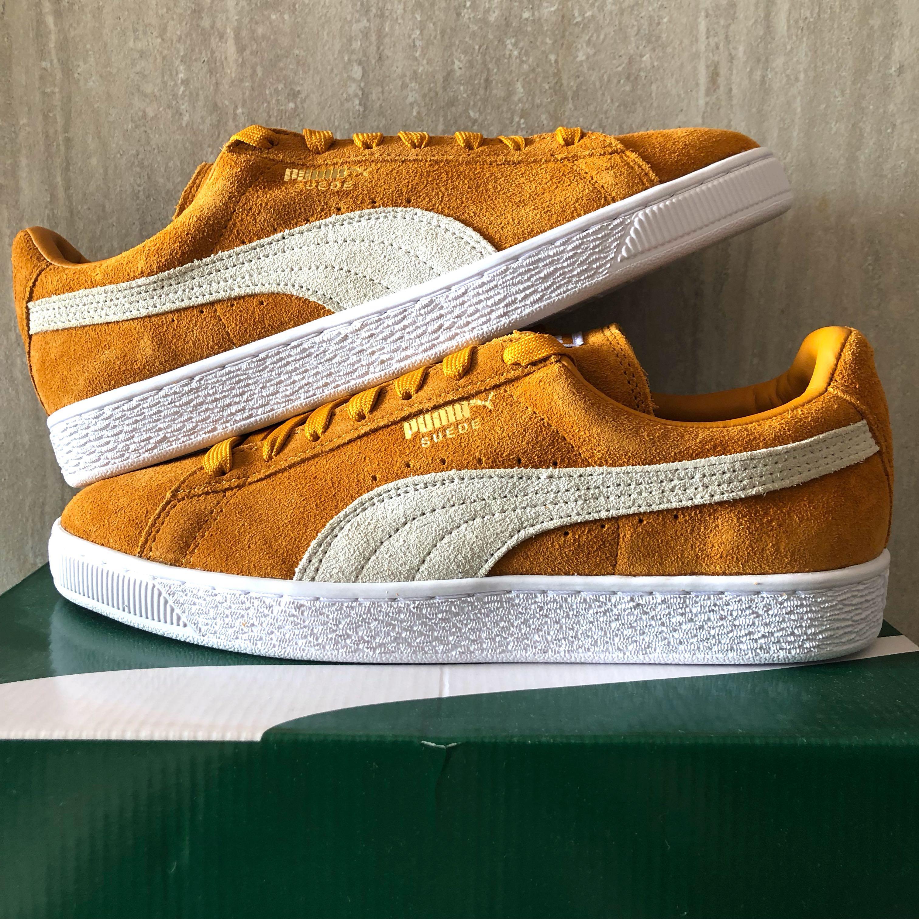 quality design dea6c 6844a BNIB Puma Men's Suede Classic Sneaker Inca Gold White US 8.5 ...