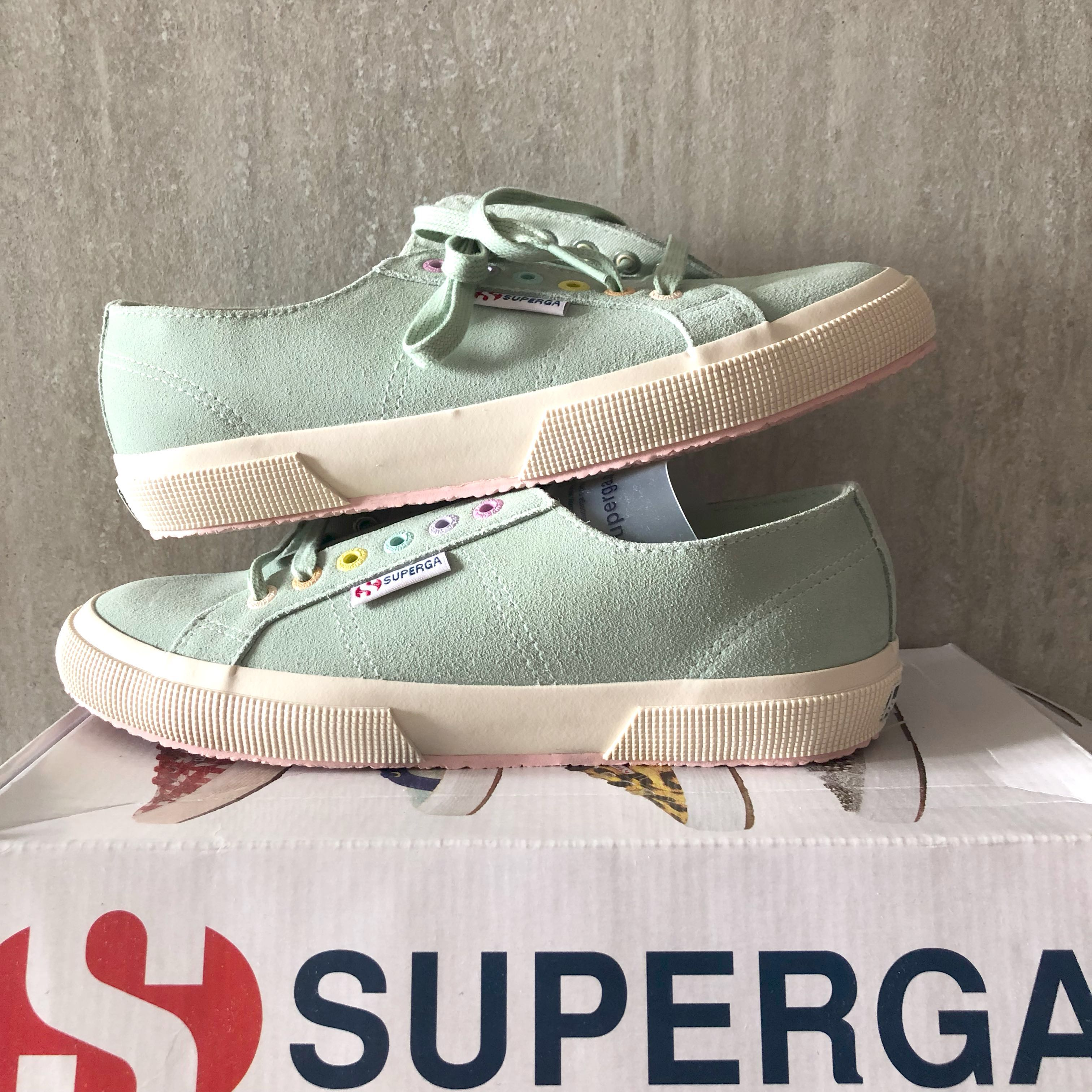 5c7b66828481 BNIB Superga Cotu mint multi colours sneakers men s women s US 8.5 ...