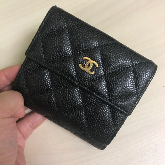 18f09ec7d40ad7 Chanel wallet small, Luxury, Bags & Wallets, Wallets on Carousell