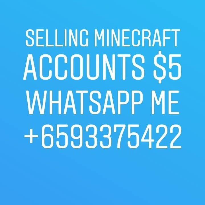 *CHEAPEST* MINECRAFT ACCOUNTS
