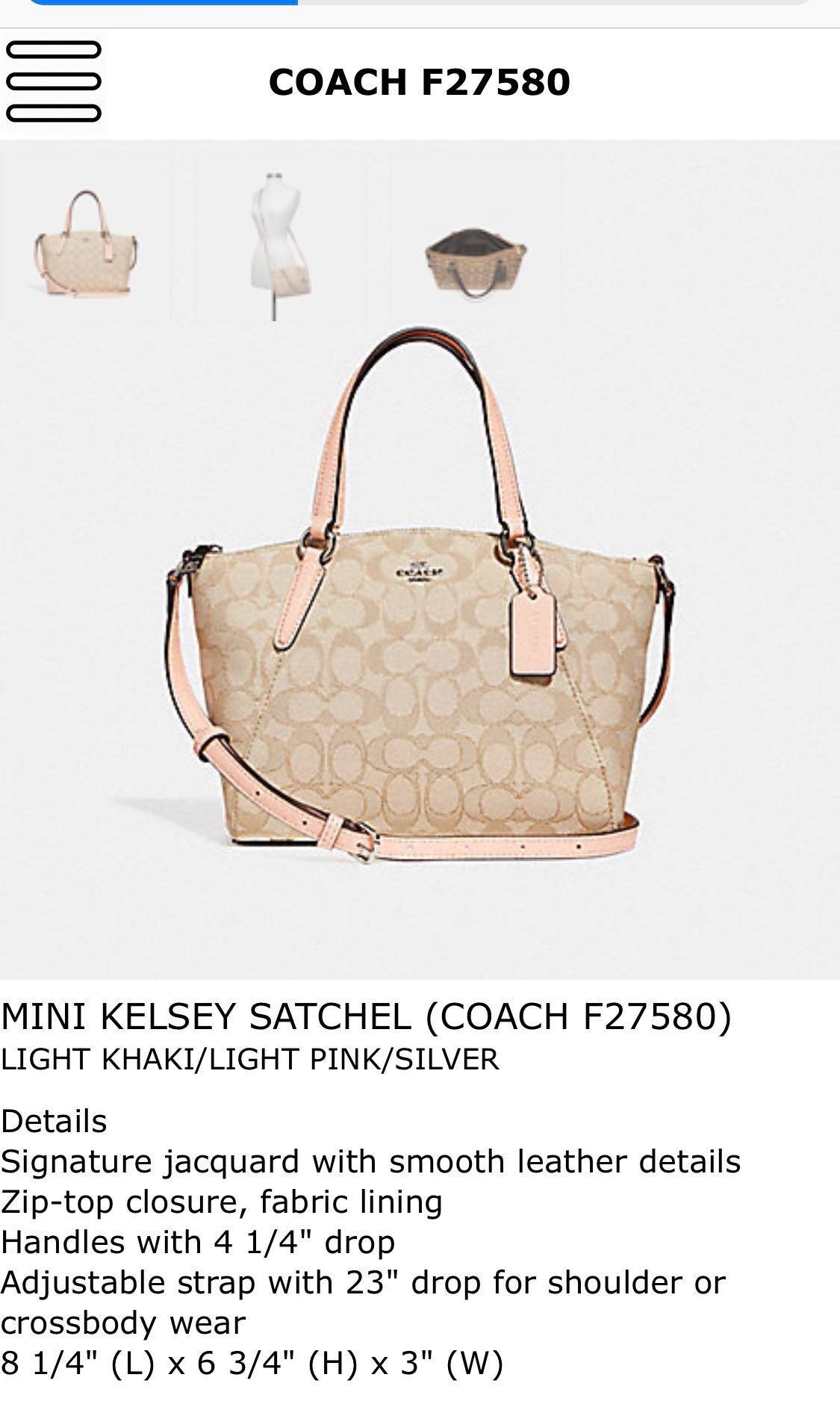 COACH Mini Kelsey Satchel (F27580) 6cbdb98cf9a5a