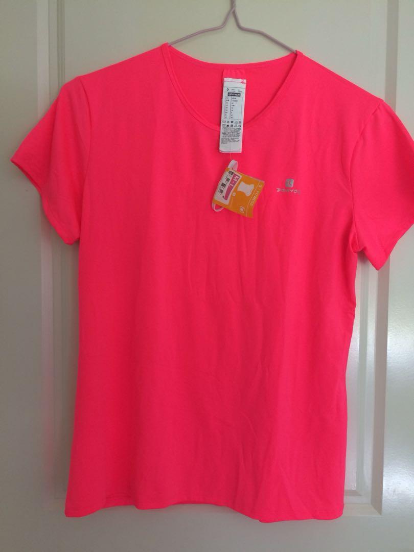 Decathlon domyos fitness energy t-shirt (sports breathable top)