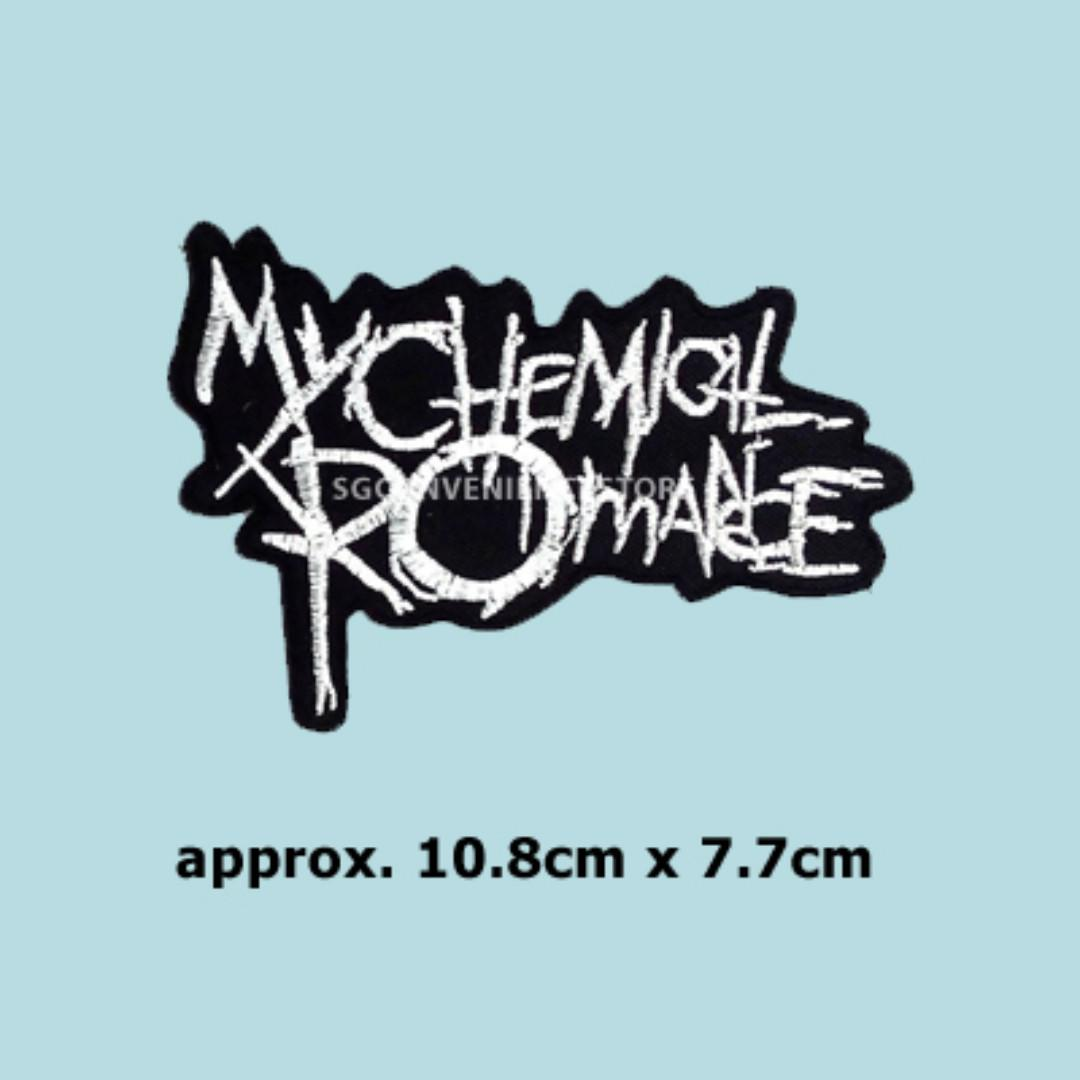 DIY Embroidery Iron On Patch Punk Rock Band Applique My Chemical Romance Motif Badge Decoration