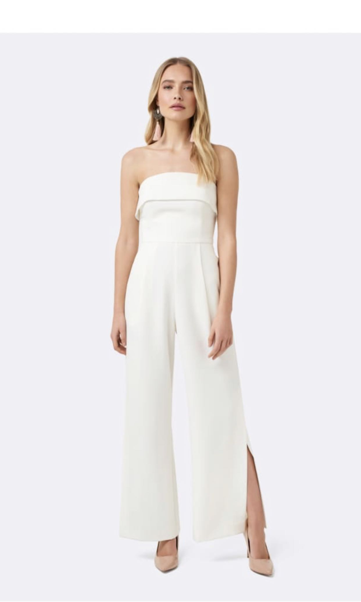 d5dd0a0cb2b5 Forever New Jumpsuit Strapless Wideleg