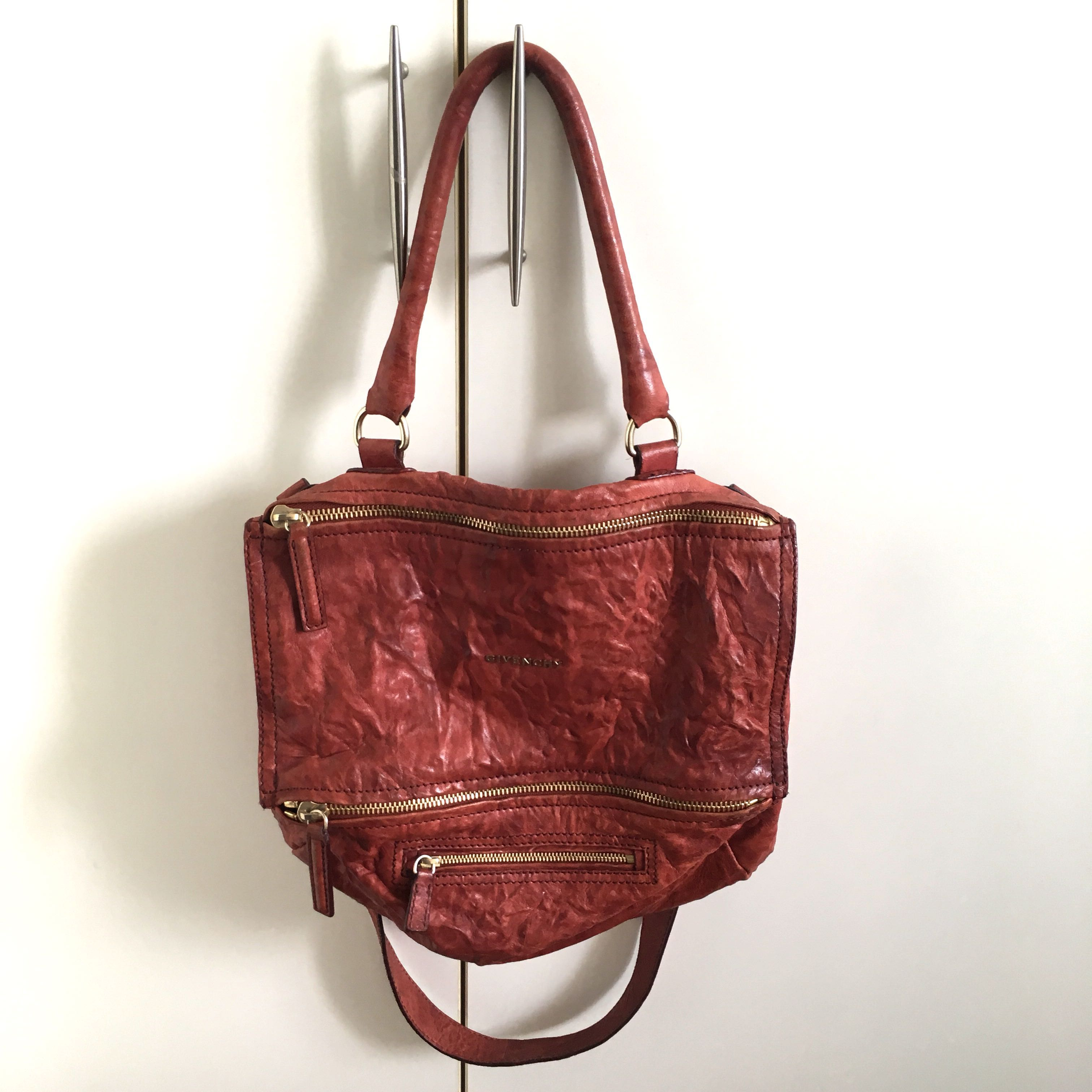 348fd33ab42 Givenchy Pandora Medium in Brick Red, Luxury, Bags   Wallets, Handbags on  Carousell