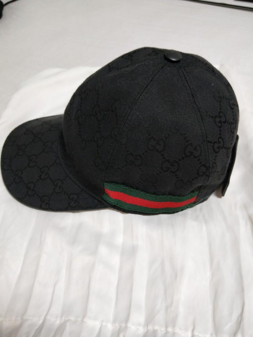 2fafa332052 Gucci Monogram Cap Black