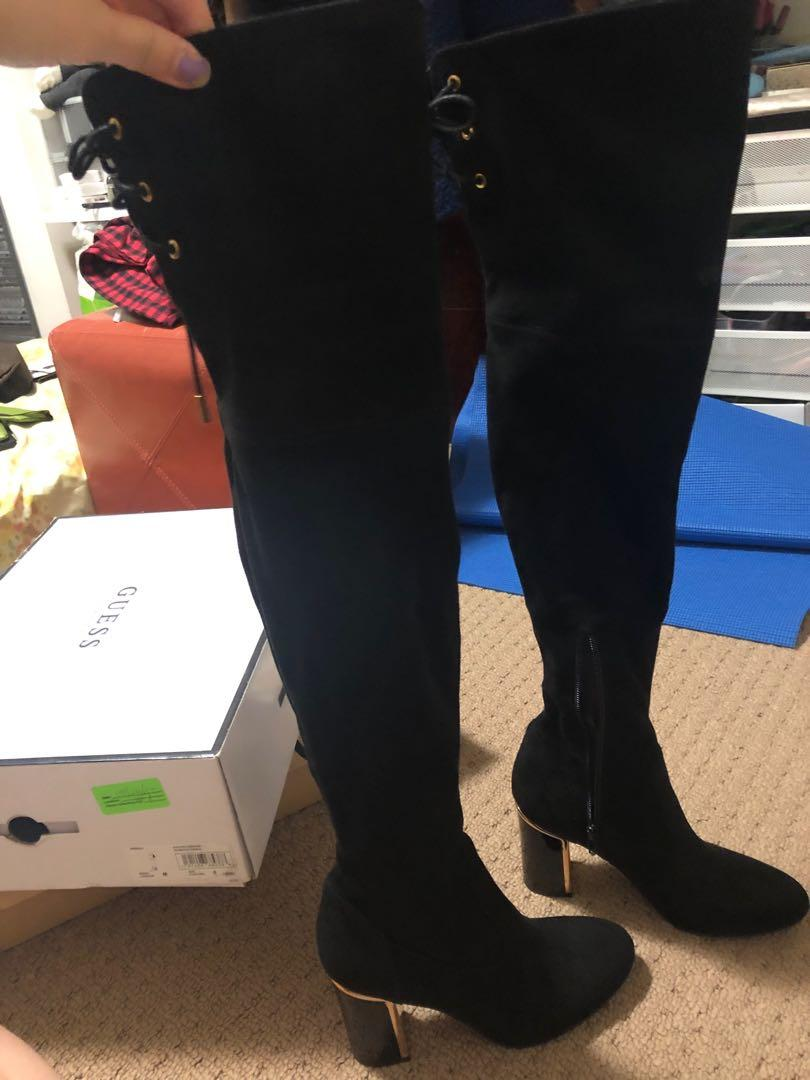 GUESS over the knee boots size 6