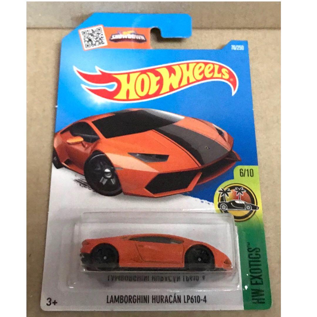 SOLD Hot Wheels Lamborghini Huracan LP 610-4 (Orange)., Toys & Games, Bricks & Figurines on Carousell