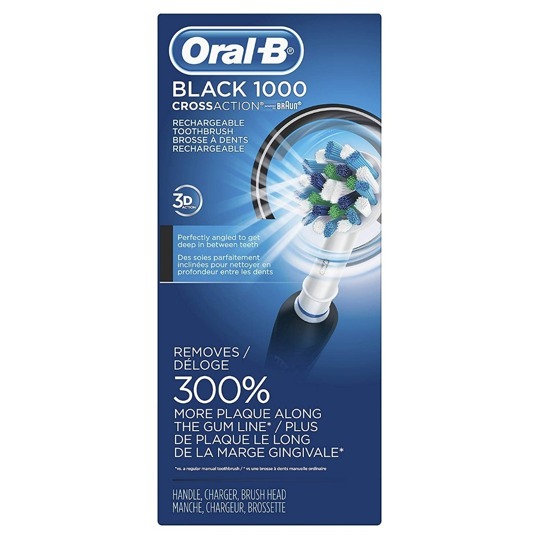 (In-Stock) Oral-B Pro 1000 Power Rechargeable Electric Toothbrush Powered  by Braun