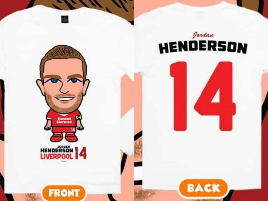 newest 03503 bccfe Jordan Henderson Cartoon Tee ( All Size) Liverpool, Sports ...