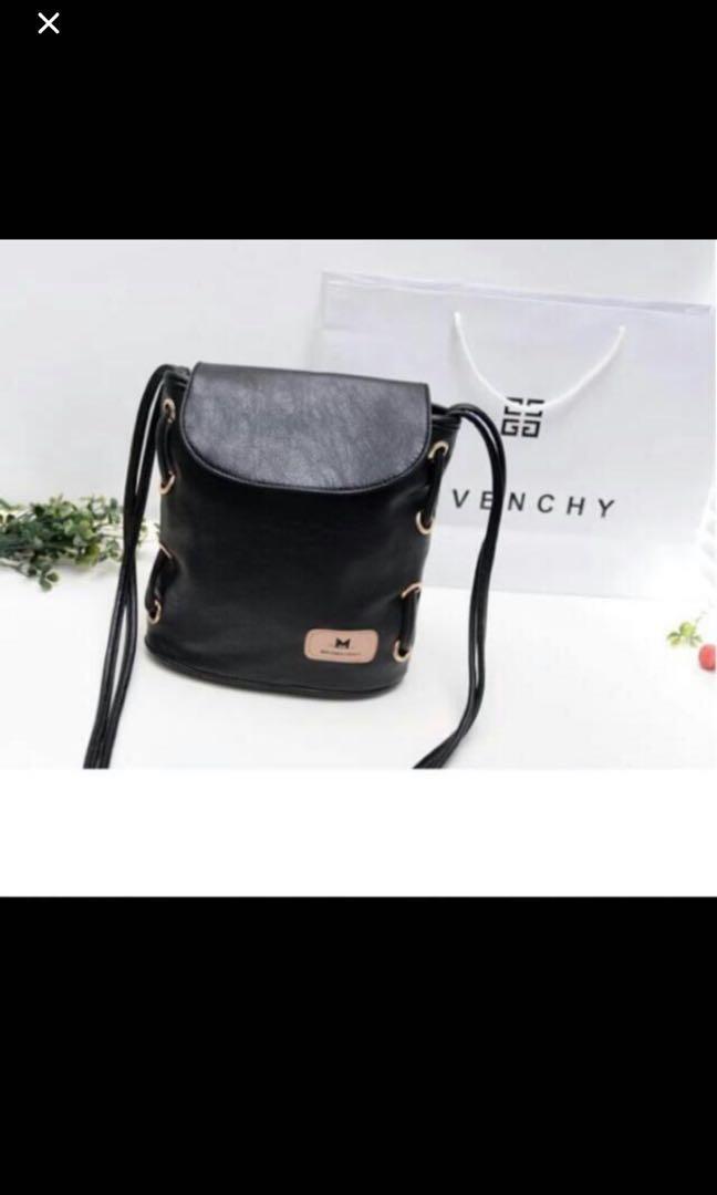 LAST INSTOCK Black Pu Leather Sling Bag