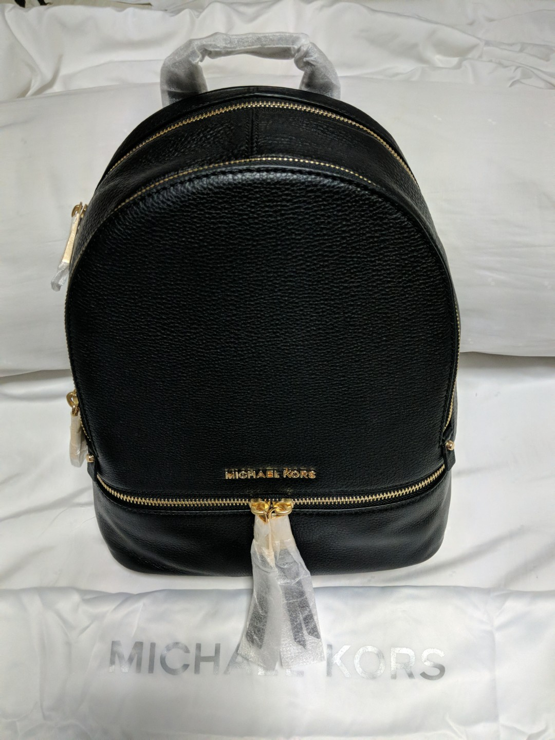 3522a30b17a8 Michael Kors Rhea Medium Leather Backpack, Luxury, Bags & Wallets ...