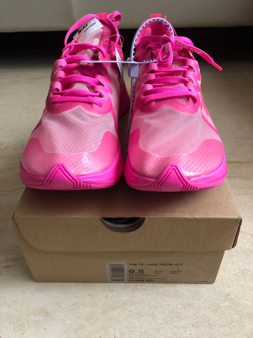 f299acb1c6a5 Off White Nike The Ten Zoom Fly SP Tulip Pink