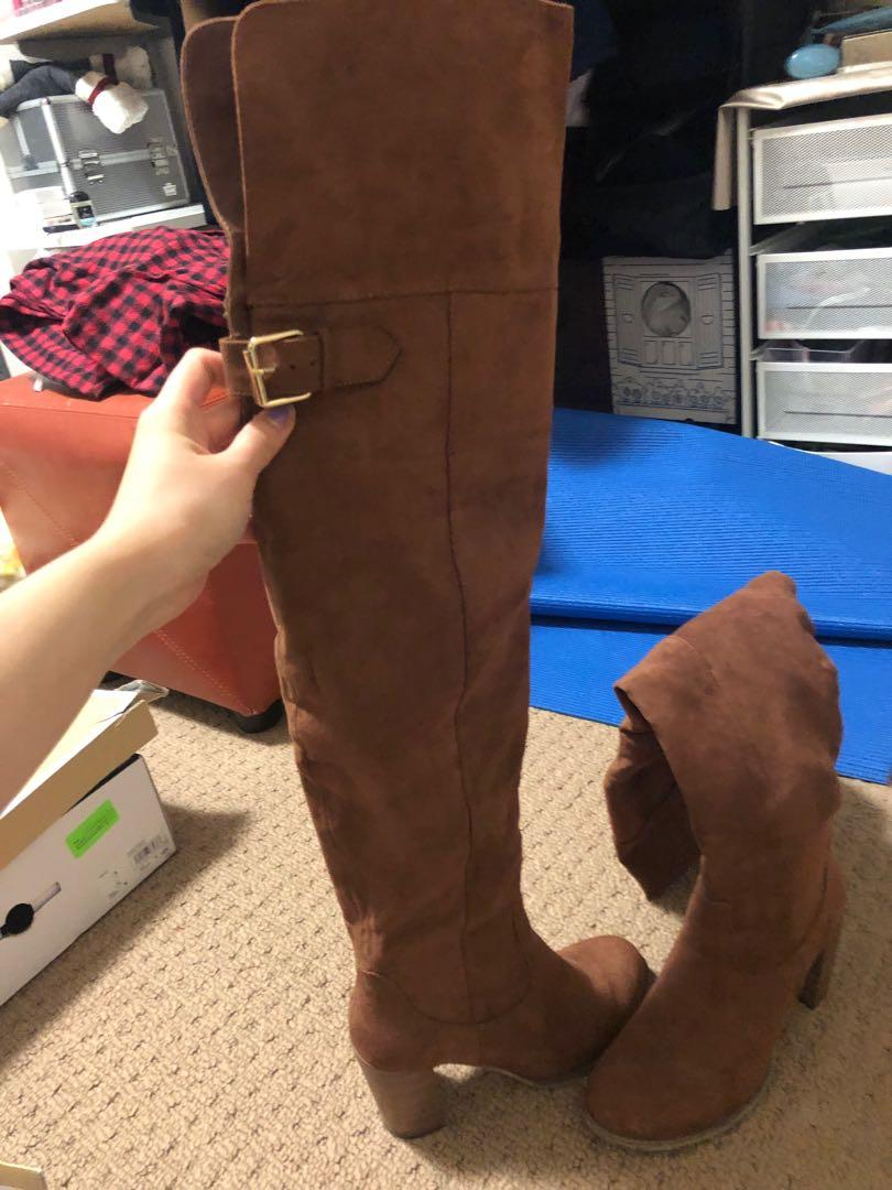 Over the knee boots size 6