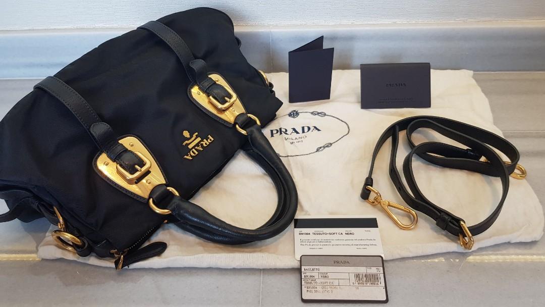 75cc5891775b Prada Bauletto gold hardware