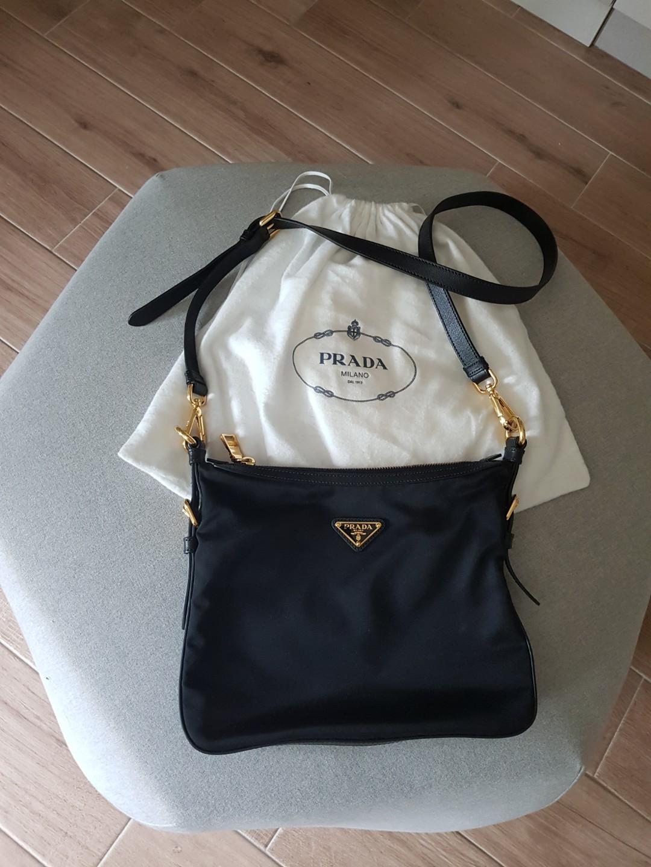 Prada classic black nylon sling bag 423e3eb540016