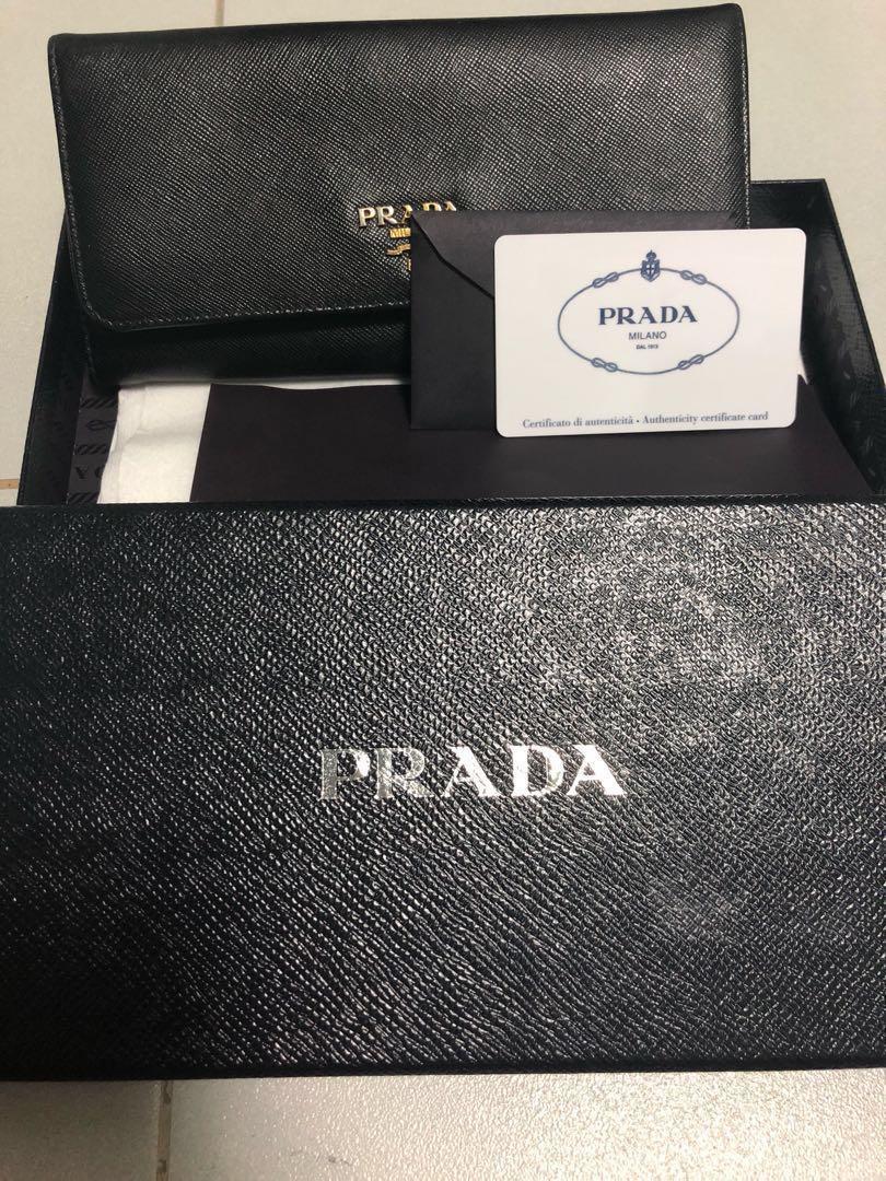 878fdf8c687e Prada Saffiano Wallet. Save over $500 !, Luxury, Bags & Wallets ...