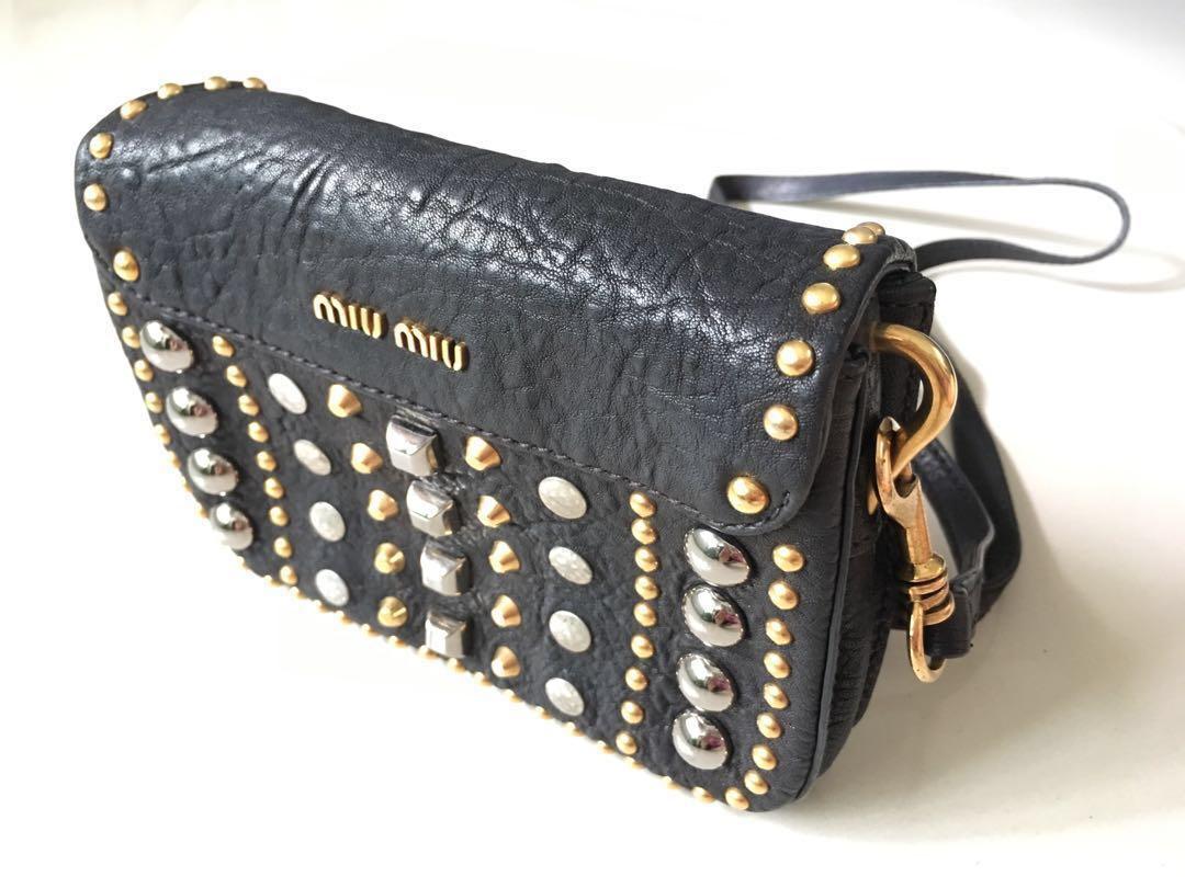 68a56ccb2436 Preloved genuine Miu Miu leather bag